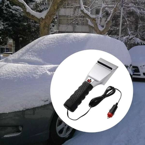 Heated Ice Scraper Clears Ice and Snow Super Fast