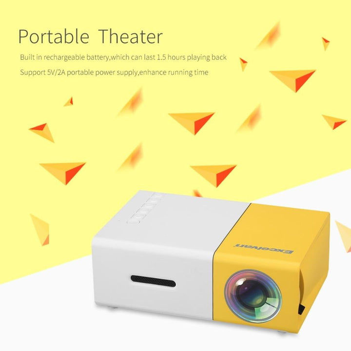 Portable Movie Projector for Home and Outdoor