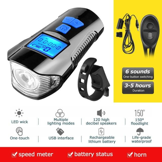 Front USB Rechargeable Bike Light 350 Lumens