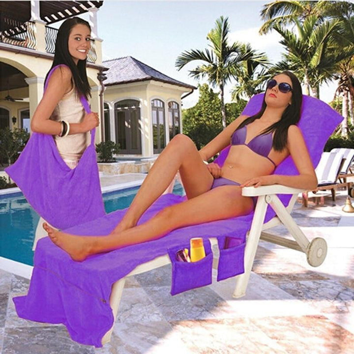 Large Microfiber Quick Drying Lounge Chair Towel