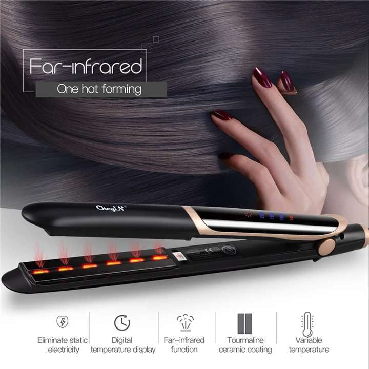Features Steam Fusion Technology to prevent hair damage