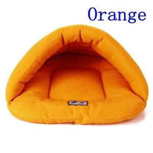 Orange Color Heated Pet Bed for Dogs Cats and Small Animals