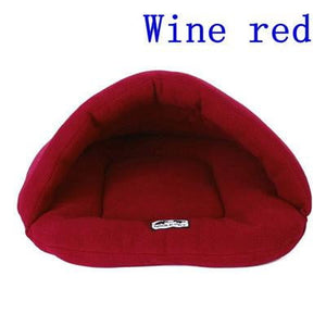 Wine Red Color Heated Pet Bed for Dogs Cats and Small Animals