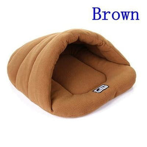 Brown Color Heated Pet Bed for Dogs Cats and Small Animals