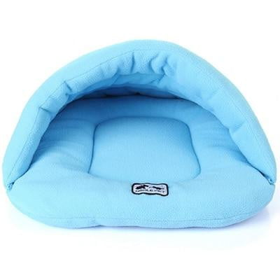 Sky Blue Color Heated Pet Bed for Dogs Cats and Small Animals