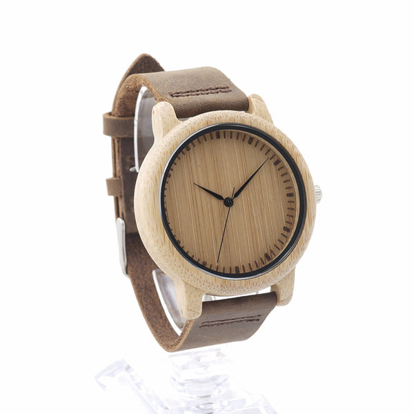 BOBO BIRD L19 Real Leather Band Quartz Watch