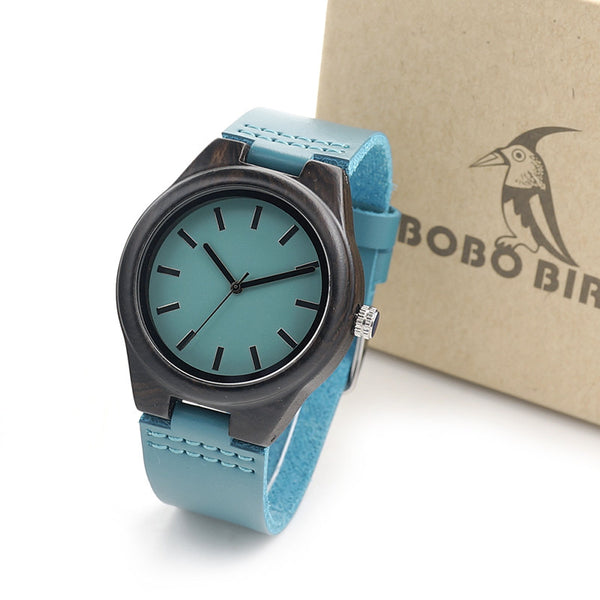 BOBO BIRD Handmade Ebony Wooden Watch