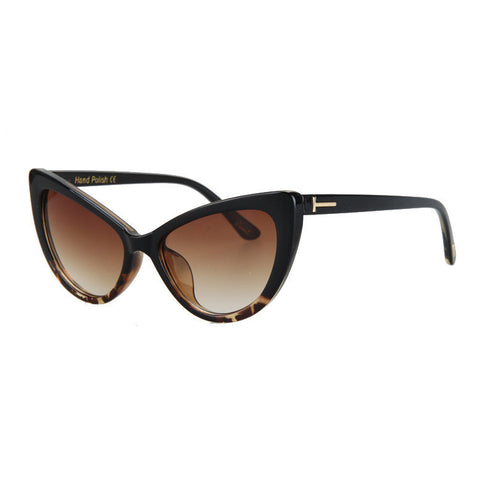 Retro Hand Polish Cat Eye Sunglasses