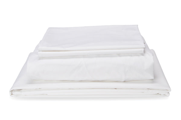 Straight Up White Sheet Set