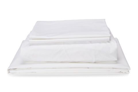 Straight Up White Quilt Cover Set