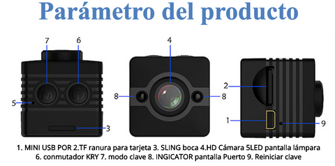 Image of SQ12 HD 1080P mini Videocámara impermeable DVR