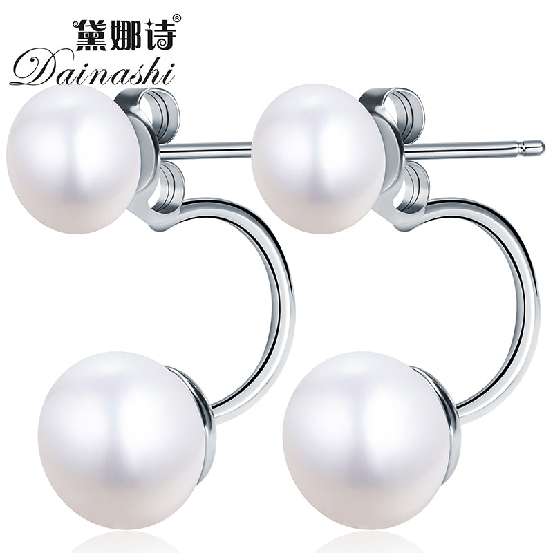 New Fashion jewelry double pearl earings brincos candy color earrings for women pendientes trendy stud earrings Hot Earrings