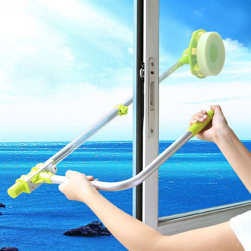 Telescopic High-rise window cleaning glass
