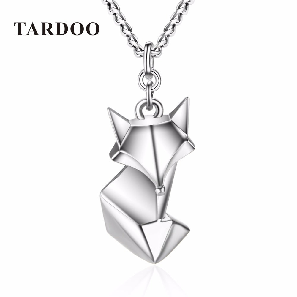 TARDOO Trendy Cute Fox Pendants Necklace for Women 925 Sterling-Silver Love Necklace Fine Jewelry 2017 New Year Gifts