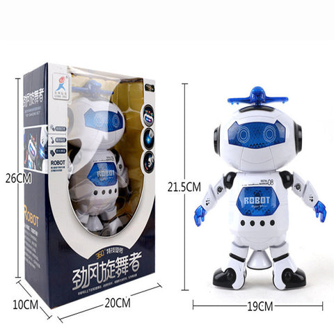Image of Electronic Walking Dancing Smart Space Robot Astronaut Kids Music Light Toys