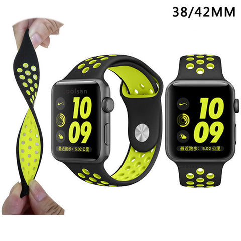 Image of Soft Silicone Sport Band For Apple Watch Series 2 Replacement Strap for Apple iWatch Nike Sport Band Brand Luxury Watchs strap