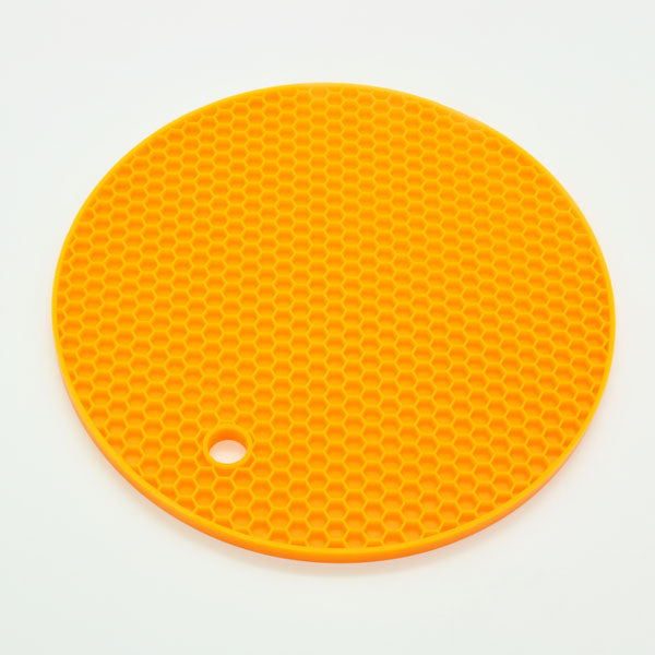Round Silicone Non-slip Heat Resistant Mat Coaster Cushion Placemat Pot Holder - 7.1 in / 18cm