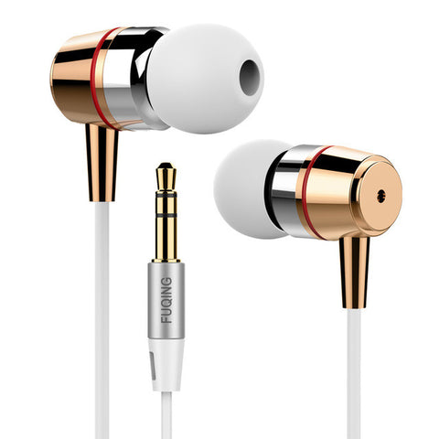 Original Inpher FUQING Bass In-ear Earphones Super Clear Metal Earphone Noise isolating Earbud For iphone 6 Meizu Xiaomi MP3 PC
