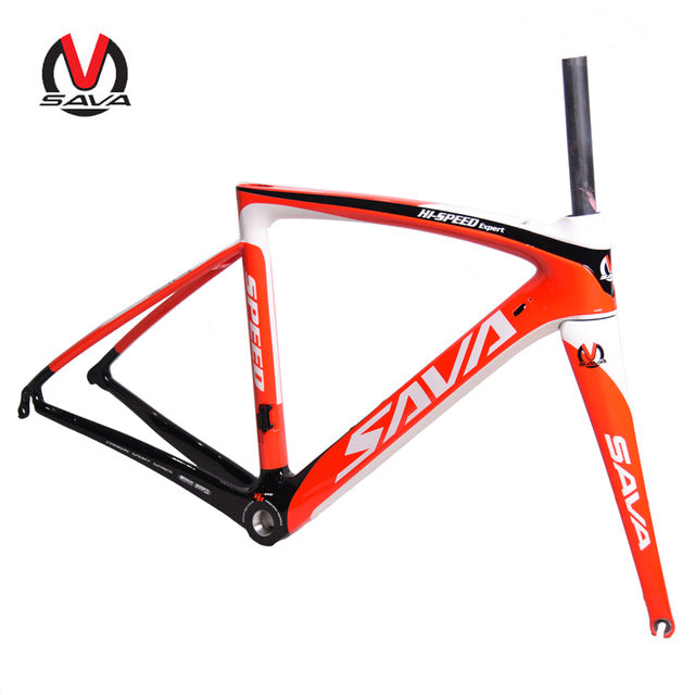 SAVA High Quality T800 Carbon 700C Road Bike Frame 1050g Racing Road Bicycle Frame 48cm 50cm 52cm with Carbon Fork + Seatpost
