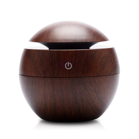 Image of Mini Wooden Aromatherapy Humidifier Aroma Diffuser Air Purifier Color Changing LED  Ultrasonic Mist Maker Humidifiers
