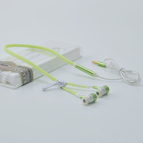 Glow In The Dark Headphone  With Zipper