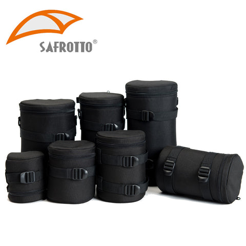 Image of Safrotto High Quality Professional Photographic Accessory Waterproof Camera Lens Case Bag Black Shockproof Pouch For Canon Nikon