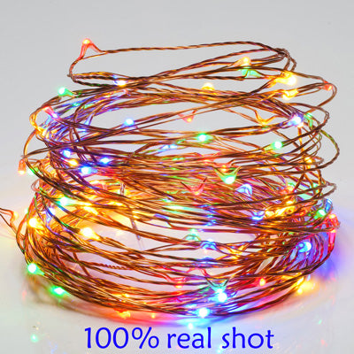 Image of USB outdoor Warm white/RGB led copper wire string fairy lights christmas