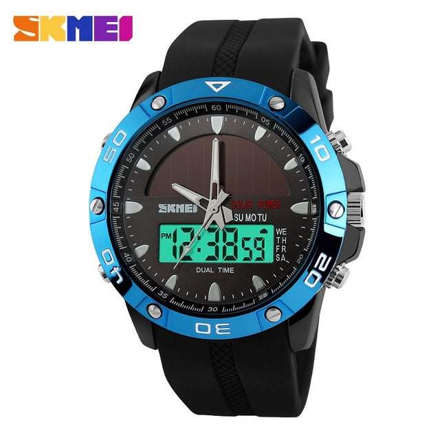 Brand Solar Energy  Men's Quartz Watch Men Sports Watches Relogio Masculino Digital Multifunctional Outdoor Wristwatches SKMEI