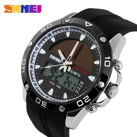 Image of Brand Solar Energy  Men's Quartz Watch Men Sports Watches Relogio Masculino Digital Multifunctional Outdoor Wristwatches SKMEI