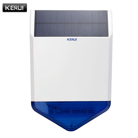 KERUI Wireless Outdoor Solar siren  For G19 G18 8218G W2 GSM Alarm SystemS security Home with flashing response loudly sound