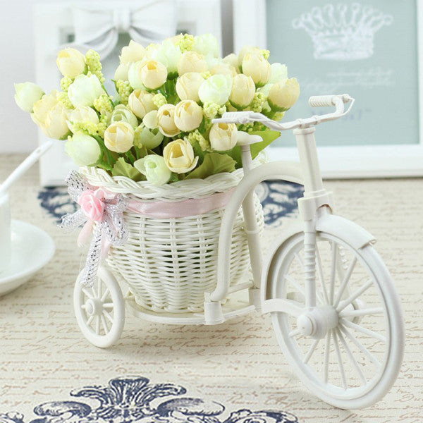 Vase Flowers Artificial Silk Flower Basket Set for Home office Decoration home flowers decoration for wedding