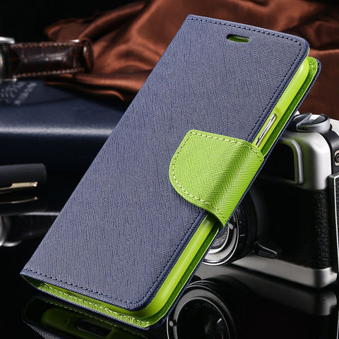 Image of KISSCASE Flip Leather Case For Samsung Galaxy S5 i9600 Fashion Stand Wallet Pouch Style Cover Phone Cases For Samsung S5 Coque