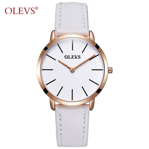 Image of OLEVS Brand Luxury Quartz Men Watches Business Casual Ultrathin Quartz-Watch Genuine Leather Clock Male relogio masculino New