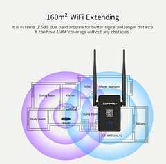 WIFI Router WiFi Repeater 750 Mbps 2.4G/5GHz Dual Band wifi signal extender APP Control WiFi Wireless Router 160m2 Wifi Extending