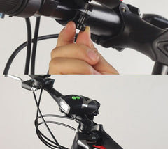 3LED Bike Bicycle Light Universal White Front Head Light Cycling Lamp + Electronic Bell Horn Hooter Siren Waterproof Accessories