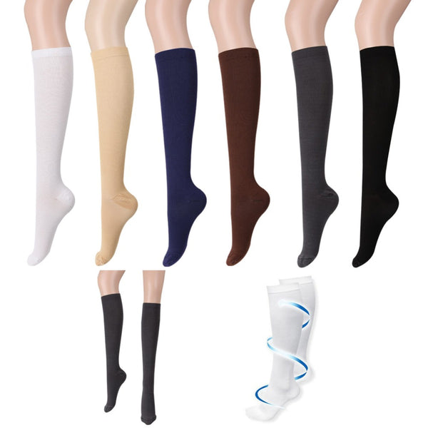 Men Women's Anti-Fatigue Knee High Socks Compression Leg Support Socks 1 Pair
