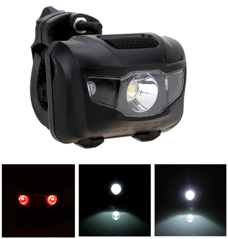 Image of LED Bicycle Light MTB  Front Rear Light ABS Head Tail Taillight Warning Lights Flashlight