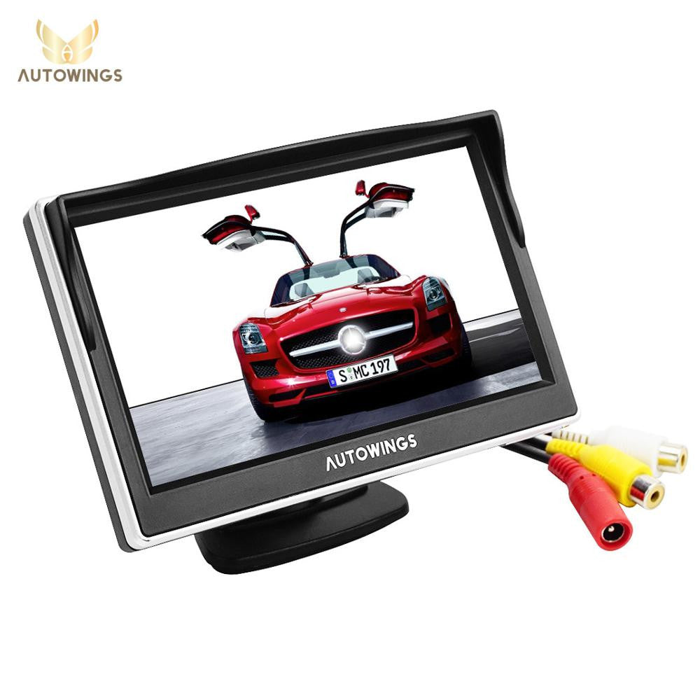 Car Monitor TFT LCD 800*480 Digital Color Screen 2 Way Video Input For Rear View