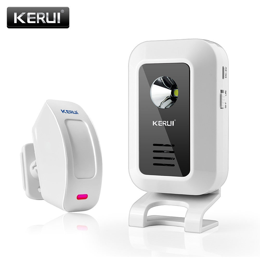 KERUI 433MHz Wireless Curtain PIR Motion KR-M7 Wireless Strobe Light Welcome Chime Door Bell Motion Sensor Burglar Alarm System