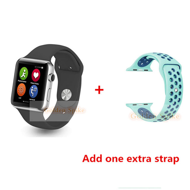 Hot Smart Watch IWO 1:1 Bluetooth Call Reminder MTK2502C Passometer MP3 Player Smart Watch 1:1For iPhone IOS&Android PK iwatch