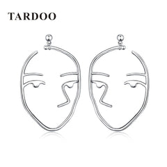 Tardoo Fabulos Genuine 925 Sterling Silver Stud Earrings for Women Hunan Face Modelling Personality Earrings Brand Fine Jewelry