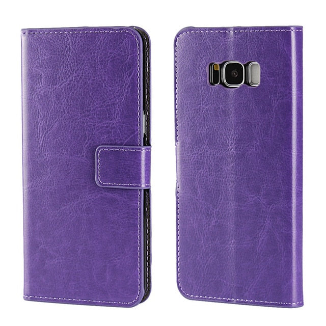Funda Billetera de Cuero Colores Clásicos para Celulares Galaxy e iPhone