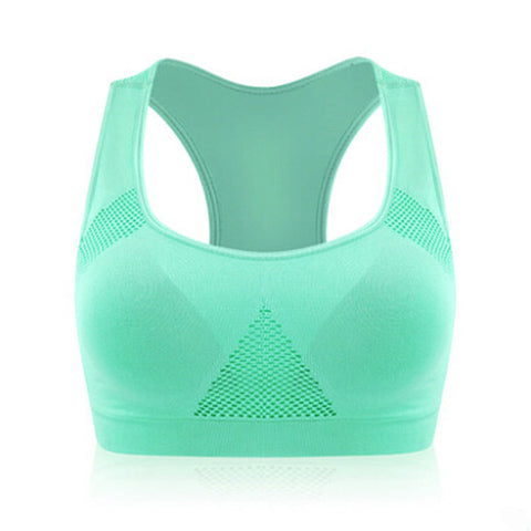Absorb Sweat Top Athletic Running Sports Bra , Gym Fitness Seamless Padded Vest Tanks  M L XL