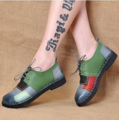 Fashion Women's Handmade Shoes Genuine Leather Soft Comfortable Casual Shoes