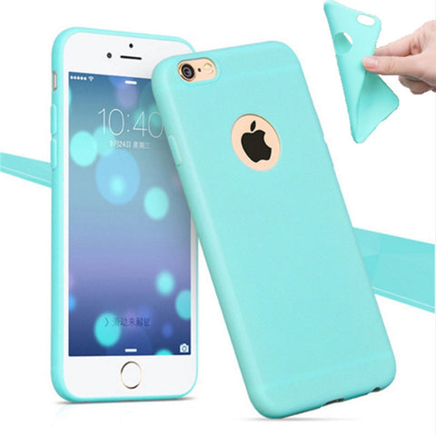 Image of Phone Shell for Apple iPhone 6 6S / 5S 5 SE 6 6S 7 Plus Back Case Cover Candy Color Soft Silicone Cell Phone Cases for iPhone 6S