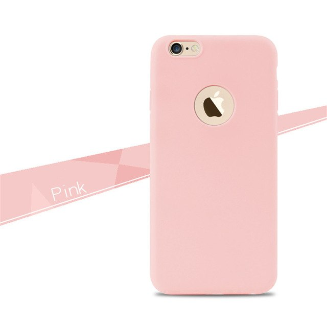 Phone Shell for Apple iPhone 6 6S / 5S 5 SE 6 6S 7 Plus Back Case Cover Candy Color Soft Silicone Cell Phone Cases for iPhone 6S