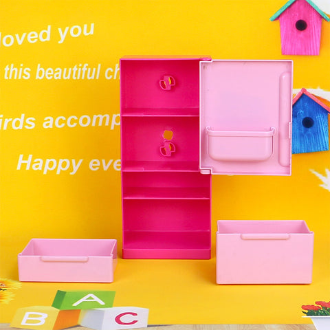 Image of Doll House Furniture Refrigerator Play Set Home Fridge