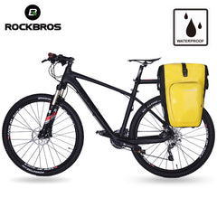 ROCKBROS Bicycle Rear Rack Tail Seat Bag Waterproof 27L Portable Cycling MTB Bike Pannier Trunk Backpack