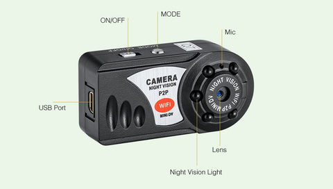 Q7 Mini Wifi DVR 720P Wireless IP Camcorder Video Recorder Camera Infrared Night Vision wifi camera