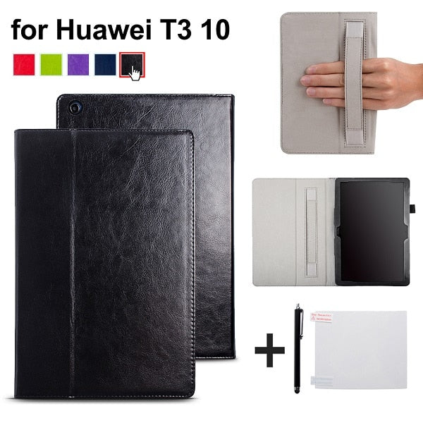 cover case for Huawei MediaPad T3 10 AGS-L09 AGS-L03 9.6 inch Cover Funda Tablet PU leather case for Honor Play Pad 2 9.6